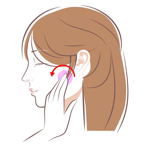 耳下腺のマッサージ