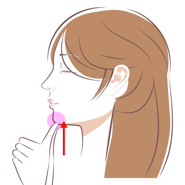 顎下腺のマッサージ